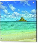 View Of Chinaman's Hat Acrylic Print