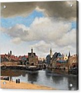 View Of Delft Acrylic Print by Johannes Vermeer