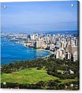 View Of Downtown Honolulu Acrylic Print