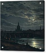 View Of Dresden By Moonlight Acrylic Print