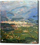 View Of Elbasan City Acrylic Print