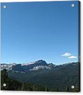 View Of Flint Mountain Wide View Acrylic Print