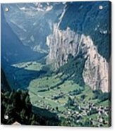 Amazing View Of Swiss Valley Acrylic Print