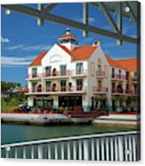 View Of Gulf Harbour From Rotunda Acrylic Print