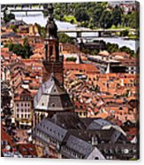 View Of Heidelberg Acrylic Print