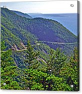 View Of Highlands Road From Skyline Trail In Cape Breton Highlands Np-ns Acrylic Print