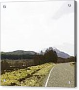 View Of Highway Running Through The Wilderness Of The Scottish Highlands Acrylic Print