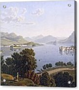 View Of Lake Maggiore And The Borromean Acrylic Print