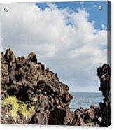 View Of Lava Rock On The Coast, Pico Acrylic Print