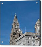 View Of Liverpool Waterfront Acrylic Print
