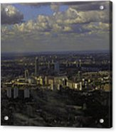 view of London within the Clouds Acrylic Print