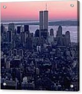 View Of Lower Manhattan Acrylic Print