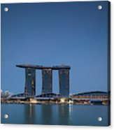 View Of Marina Bay Sands Hotel Acrylic Print