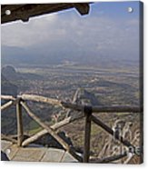 View Of Meteora From The Monastery   #9722 Acrylic Print