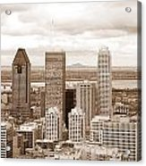 View Of Montreal In Sepia Acrylic Print