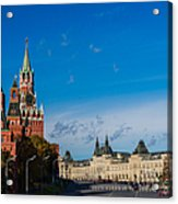 View Of Moscow Kremlin Towers And Red Square In Autumn Acrylic Print