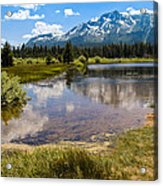 View Of Mount Tallac From Taylor Creek Beach Lake Tahoe Acrylic Print