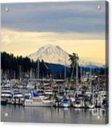 View Of Mt. Rainier From Gig Harbor Wa Acrylic Print