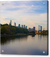 View Of Philadelphia From The Girard Avenue Bridge Acrylic Print by Bill Cannon