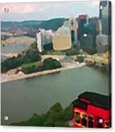 View Of Pittsburgh From Mt. Washington Acrylic Print