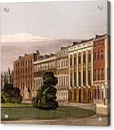 View Of Portman Square, North Side, 1816 Acrylic Print