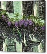 View Of Purple Acrylic Print
