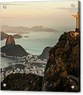 View Of Rio De Janeiro At Sunset Acrylic Print
