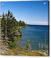 View Of Rock Harbor And Lake Superior Isle Royale National Park Acrylic Print by Jason O Watson