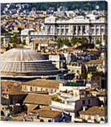 View Of Rome's Rooftops Acrylic Print