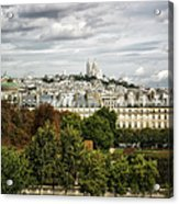 View Of Sacre Coeur From The Musee D'orsay Acrylic Print