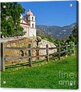 View Of Santa Barbara Mission Acrylic Print