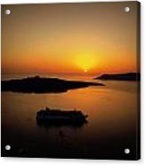 View Of Santorini Greece Acrylic Print