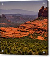 View Of Sedona From The East Acrylic Print