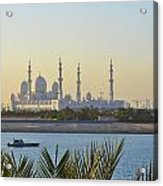 View Of Sheikh Zayed Grand Mosque Acrylic Print