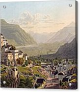 View Of Sion, Illustration From Voyage Acrylic Print by Gabriel L. & Lory, Mathias G. Lory