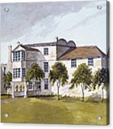 View Of Sir Noel De Carons House, 1809 Wc On Paper Acrylic Print