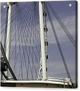 View Of Spokes Of The Singapore Flyer Along With The Base Section Acrylic Print