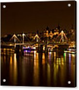 View Of Thames River From Waterloo Acrylic Print