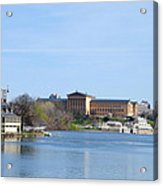 View Of The Art Museum And Waterworks In Philadelphia Acrylic Print