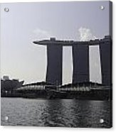 View Of The Artscience Museum And The Marina Bay Sands Resort Acrylic Print