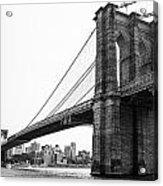 View Of The Brooklin Bridge Acrylic Print
