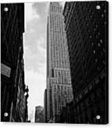 View Of The Empire State Building From West 34th Street And Broadway Junction New York City Acrylic Print by Joe Fox