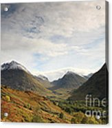View Of The Glencoe Mountains Acrylic Print