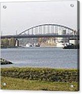 View Of The John Frost Bridge In Arnhem Netherlands Acrylic Print