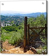 View Of The Ojai Valley Acrylic Print