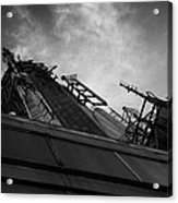 View Of The Top Of The Empire State Building Radio Mast New York City Acrylic Print