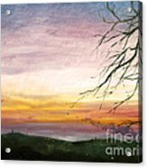 View Of The Valley At Dusk Acrylic Print