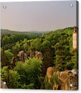 View Of Trosky Castle In A Village Acrylic Print