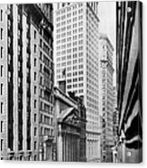 View Of Wall Street Acrylic Print