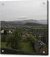 View Of Wallace Monument And Houses And Surrounding Areas Acrylic Print